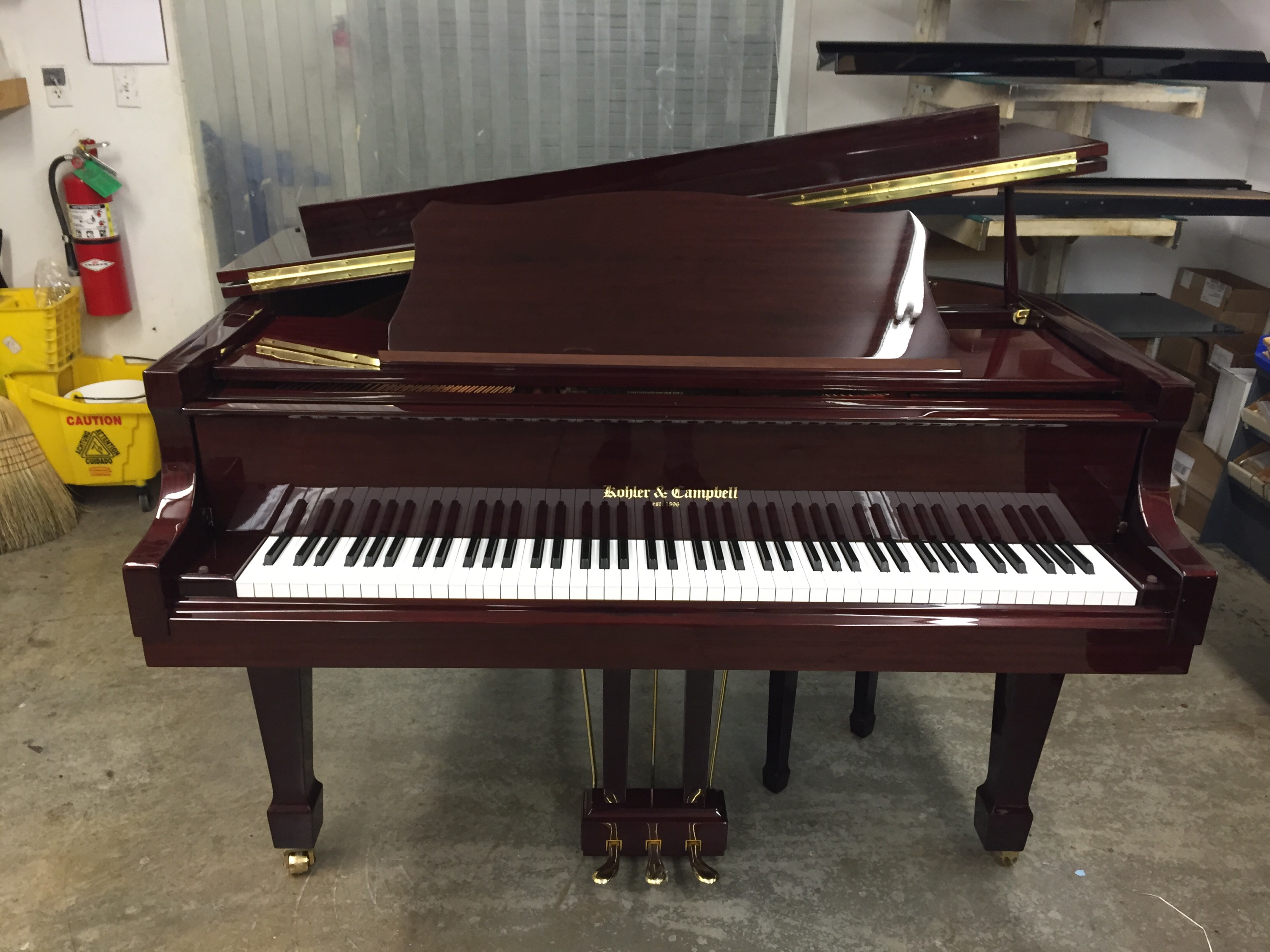 Kohler And Campbell Kig 50 Baby Grand Piano With Pianoscan Hall Piano Company Warehouse